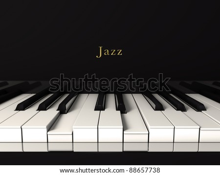Front view of a jazz piano - stock photo