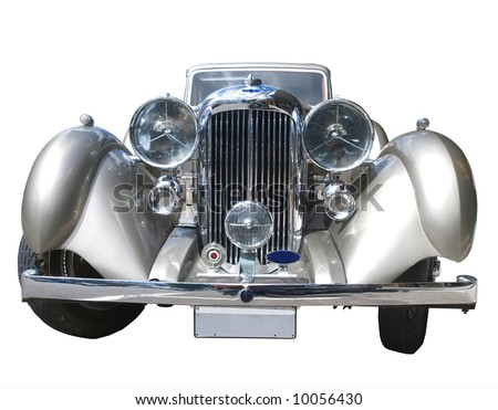 Front view of a 1936 Lagonda LG45 - stock photo
