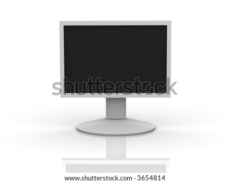 Front View of a LCD Monitor - stock photo