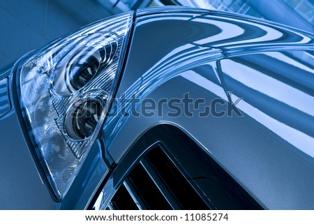 Front View of a Luxury Car - stock photo