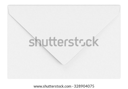front view of a white envelope (3d render)