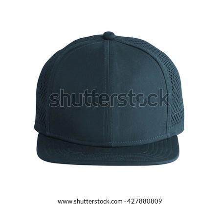 Front View of Black Cap Isolated on White