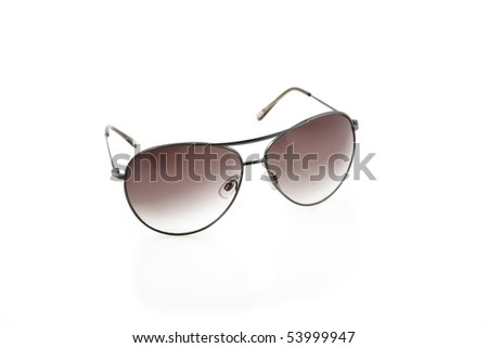 front view of classic sunglasses, ultraviolet protection