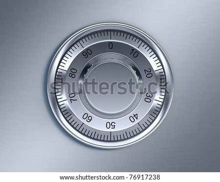 Front view of Combination lock - stock photo