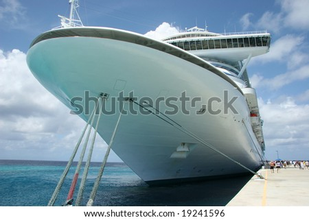 Front view of Cruise liner - stock photo