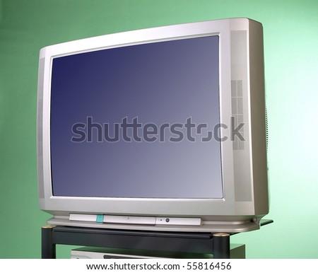 Front view of retro TV. - stock photo