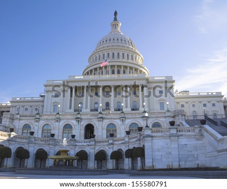 Front view of the Capitol Building, Washington, DC, USA