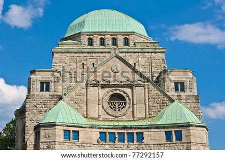 Front view of the old synagogue of Essen, Germany - stock photo