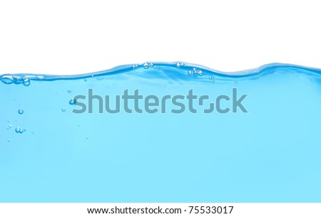 Front view of water level isolated - stock photo