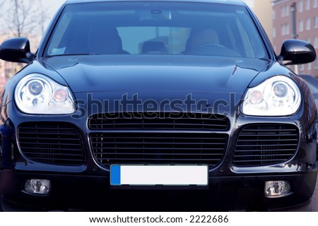 front view Porsche Cayenne - luxury German SUV