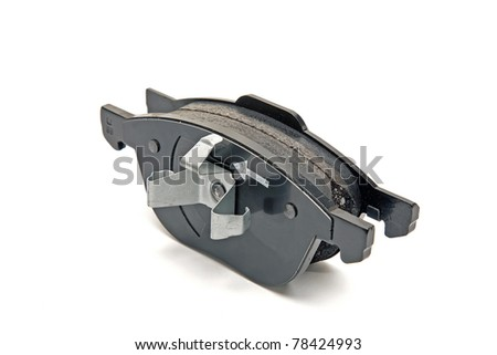 front wheel brake pads - stock photo
