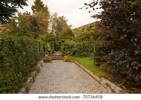 Front yard - stock photo