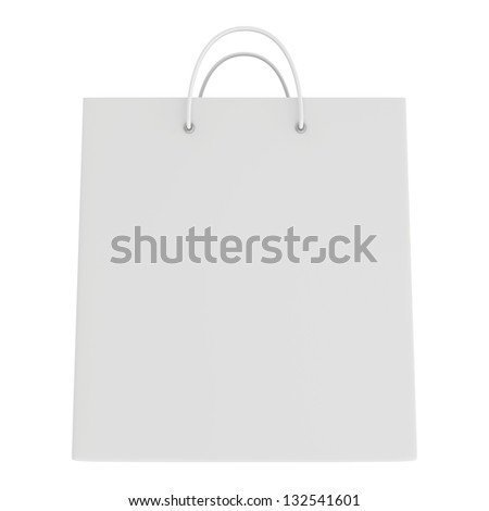 frontal view of a shopping bag - stock photo
