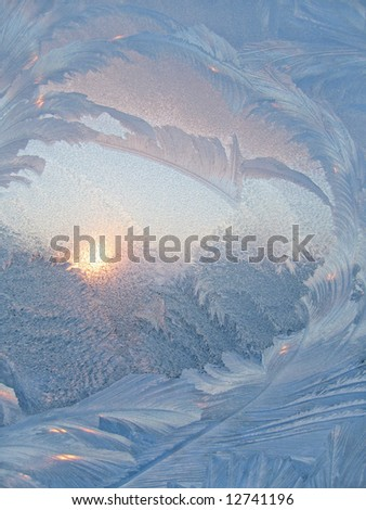 Frost and sun. - stock photo