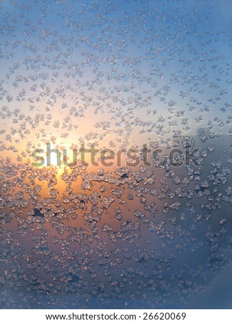 frost and sun texture - stock photo