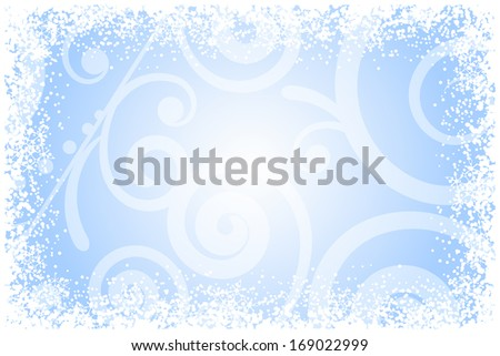 Frost glass background - stock photo