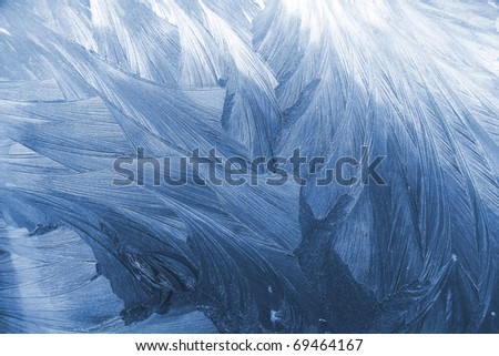 Frost glass texture - stock photo