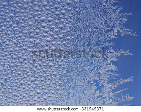 frost ice crystal on window background pattern - stock photo