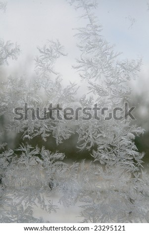 frost on a window - stock photo