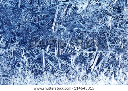 Frost on glass - stock photo
