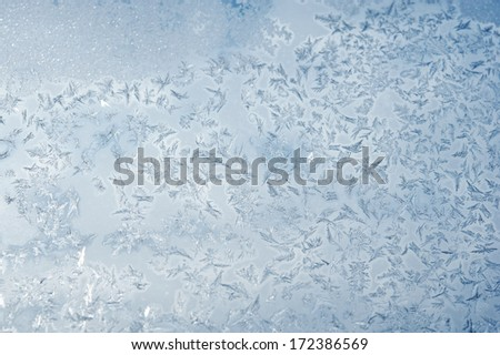 Frost on the window - stock photo