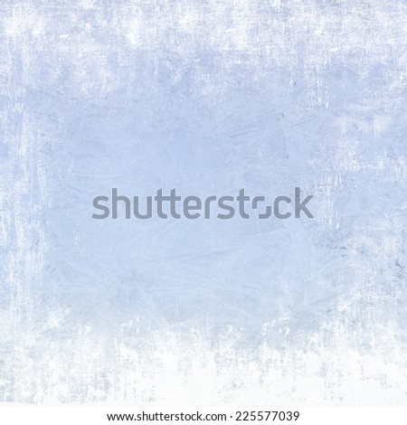 Frost patterns on window. Festive bokeh background - stock photo