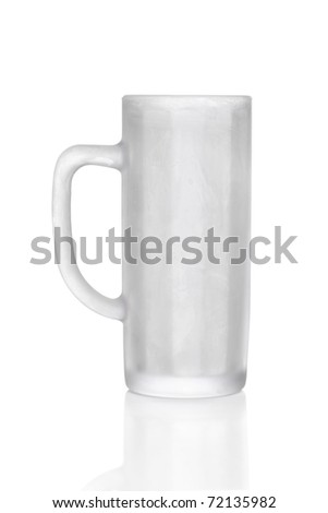 frosted beer glass, half litre measurement