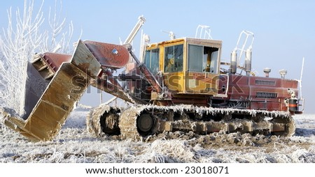 Frosted farming equipment