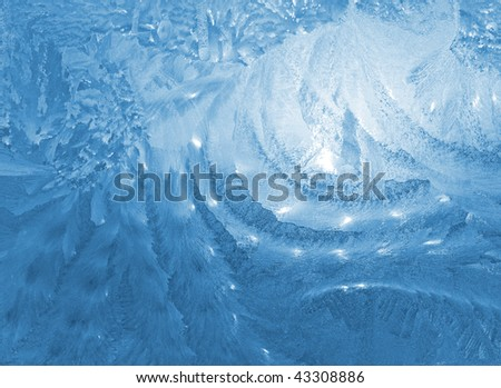 Frosted glass - stock photo
