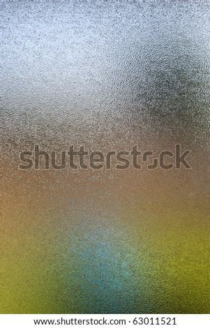 Frosted glass texture of an abstract colorful scene. - stock photo