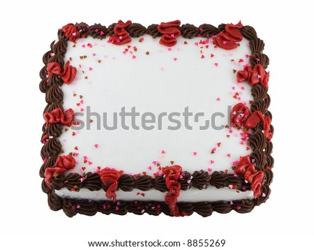 Frosted sheet cake - stock photo