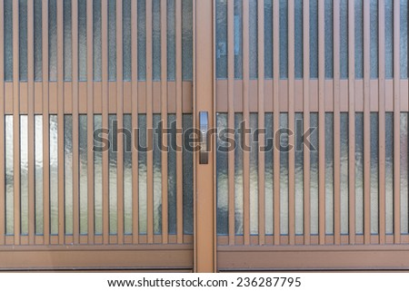 Frosted sliding glass doors