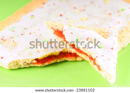 Frosted toaster pastry with icing and sprinkles - stock photo