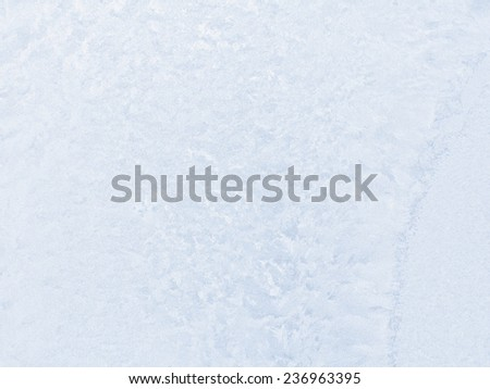 Frosty pattern on winter window - can be used as a background.  - stock photo