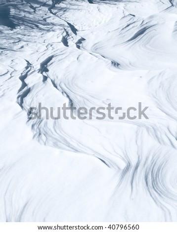 Frosty textured snow pattern - stock photo