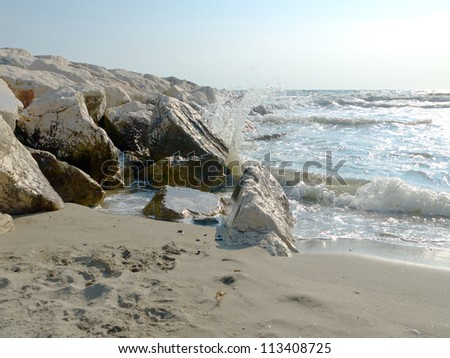 Froth and waves - stock photo