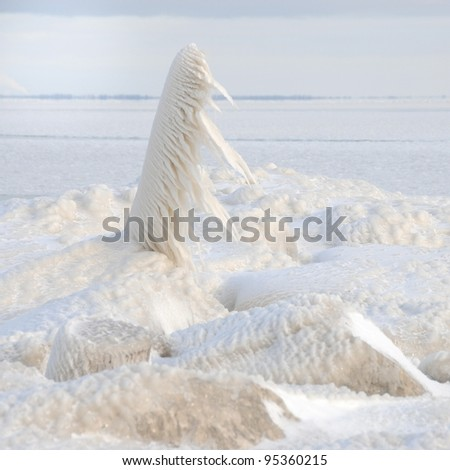 Frozen - All Wrapped in Icicles - stock photo