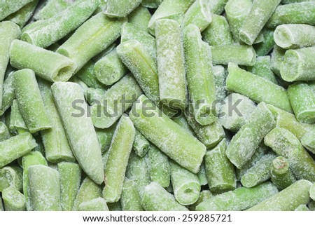 frozen asparagus beans can be used as background - stock photo