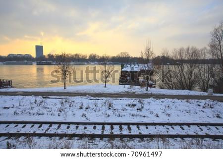 Frozen Belgrade - stock photo