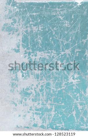 Frozen blue grunge texture, background - stock photo