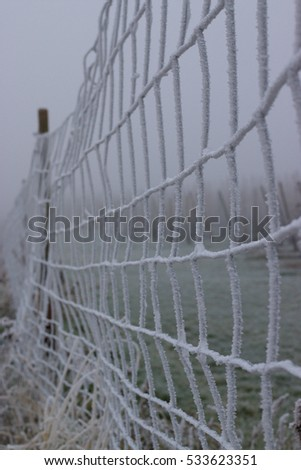 frozen fence in germany