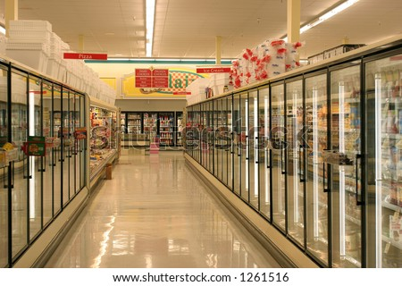 Frozen Foods Aisle - stock photo