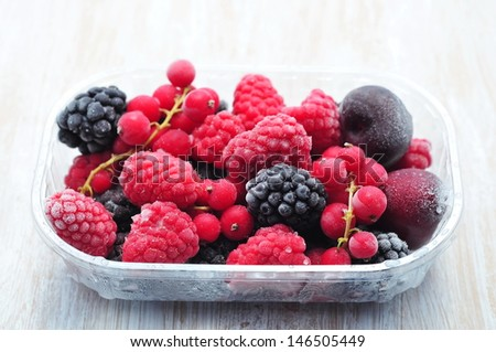 Frozen fruits - stock photo