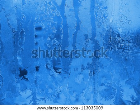 Frozen glass texture - stock photo