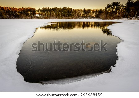 Frozen lakes - stock photo