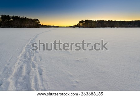 Frozen lakes - stock photo