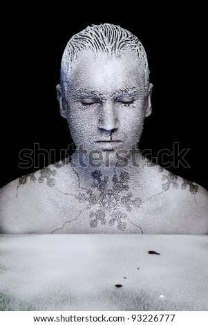 Frozen man - stock photo