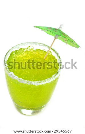 Frozen Margarita Isolated - stock photo