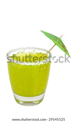 Frozen Margarita with Clipping Path - stock photo