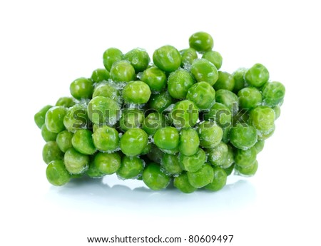 Frozen natural vegetables on white background
